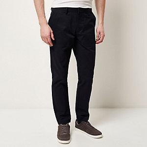 Navy pocket slim pants