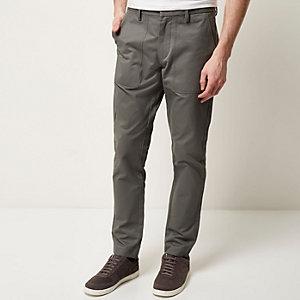 Grey pocket slim trousers