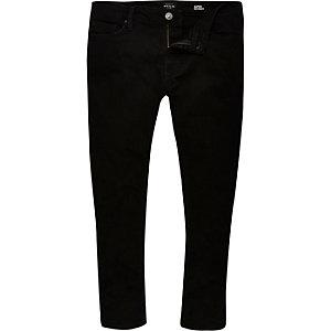 Danny – Schwarze Superskinny Crop Jeans
