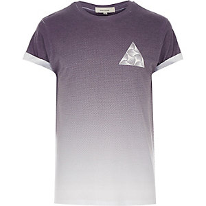 Dark purple triangle print t-shirt