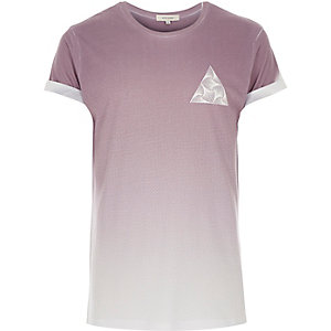 Light pink triangle print t-shirt
