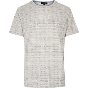 White printed short sleeve t-shirt