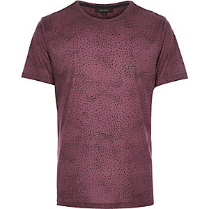 Red ditsy print t-shirt