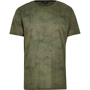 Dark green ditsy print t-shirt