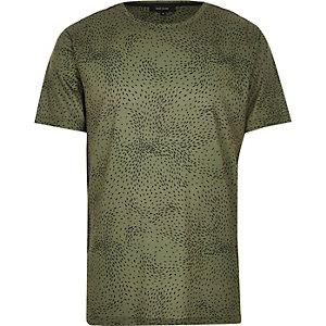 Dark green ditsy print t-shirt