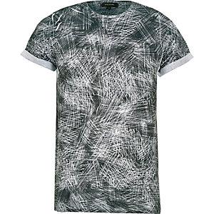 Black scratch print t-shirt