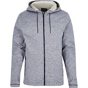 Navy zip-up hoodie