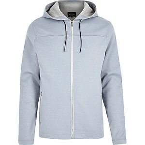 Light blue zip-up hoodie