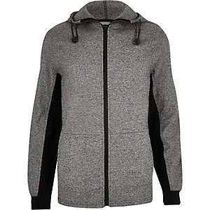 Dark grey zip-up hoodie