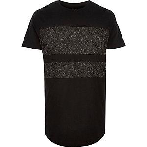 Black Systvm panel t-shirt