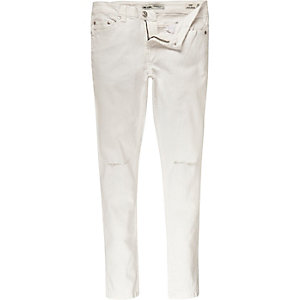 White Only & Sons ripped knee skinny jeans