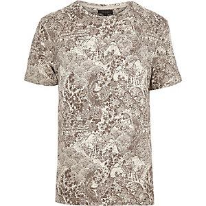 Ecru Oriental print t-shirt