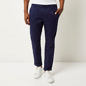 Navy slim chino pants