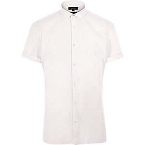 Pink short sleeve popper shirt