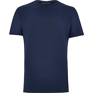 Navy muscle fit t-shirt