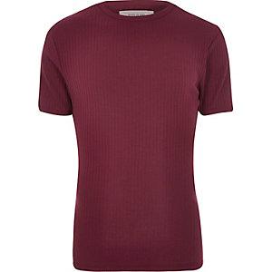 Black essential ribbed slim fit t-shirt