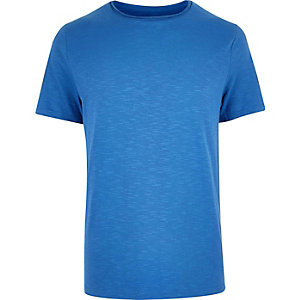 Bright blue short sleeve t-shirt