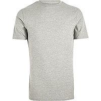 T-shirt ajusté gris chiné