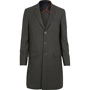 Grey longline slim fit blazer