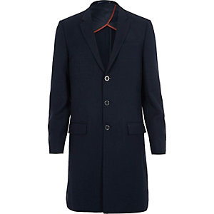 Navy longline slim fit blazer