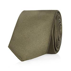 Khaki green tie