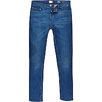 Bright blue Sid skinny stretch jeans