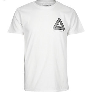 White triangle print t-shirt