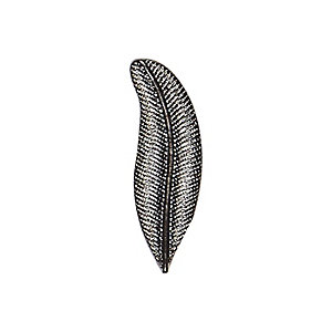 Grey tone feather lapel brooch