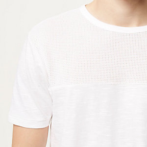 White block panel t-shirt