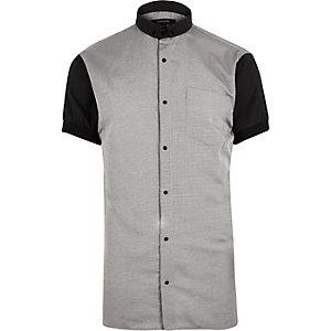 Grey contrast body short sleeve shirt