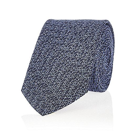 Navy textured tie