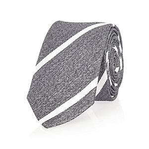 Grey stripe tie