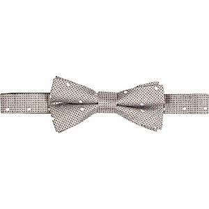 Champagne spot texture bow tie
