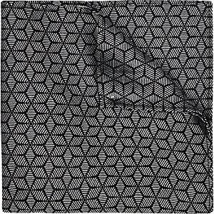 Black geo print pocket square