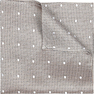 Champagne silk spot texture pocket square