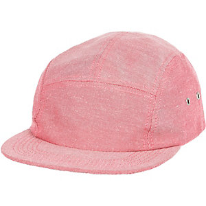 Pink chambray cap