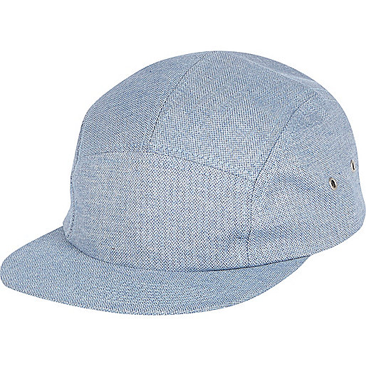 Blaue Chambray-Mütze