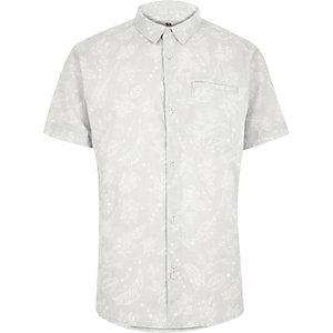 Ecru Bellfield subtle print shirt