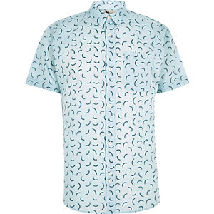 Light blue Bellfield print shirt