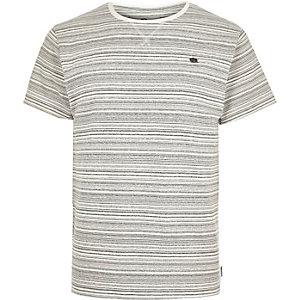 Ecru Bellfield stripe print t-shirt