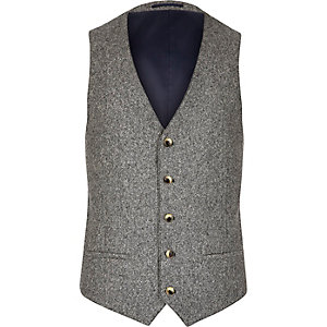 Grey neppy vest