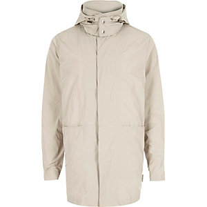 Cream Bellfield hooded mac coat