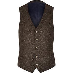 Brown neppy vest