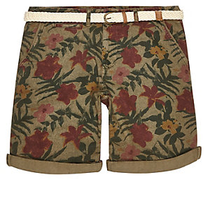 Green Bellfield print shorts