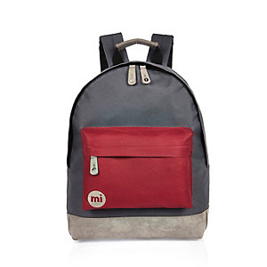 Red color block Mipac backpack