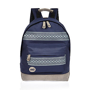 Navy pattern Mipac backpack