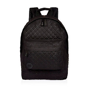 Black quilted Mipac backpack