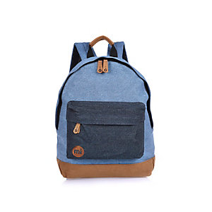Blue Mi-Pac denim backpack