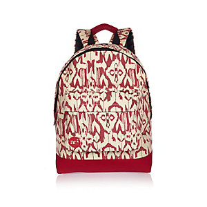 White Mi-Pac ikat print backpack