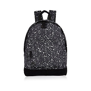 Black Mi-Pac splatter print backpack